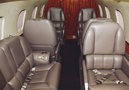 private charter jets N557AB